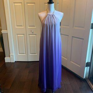 Violet ombré long dress